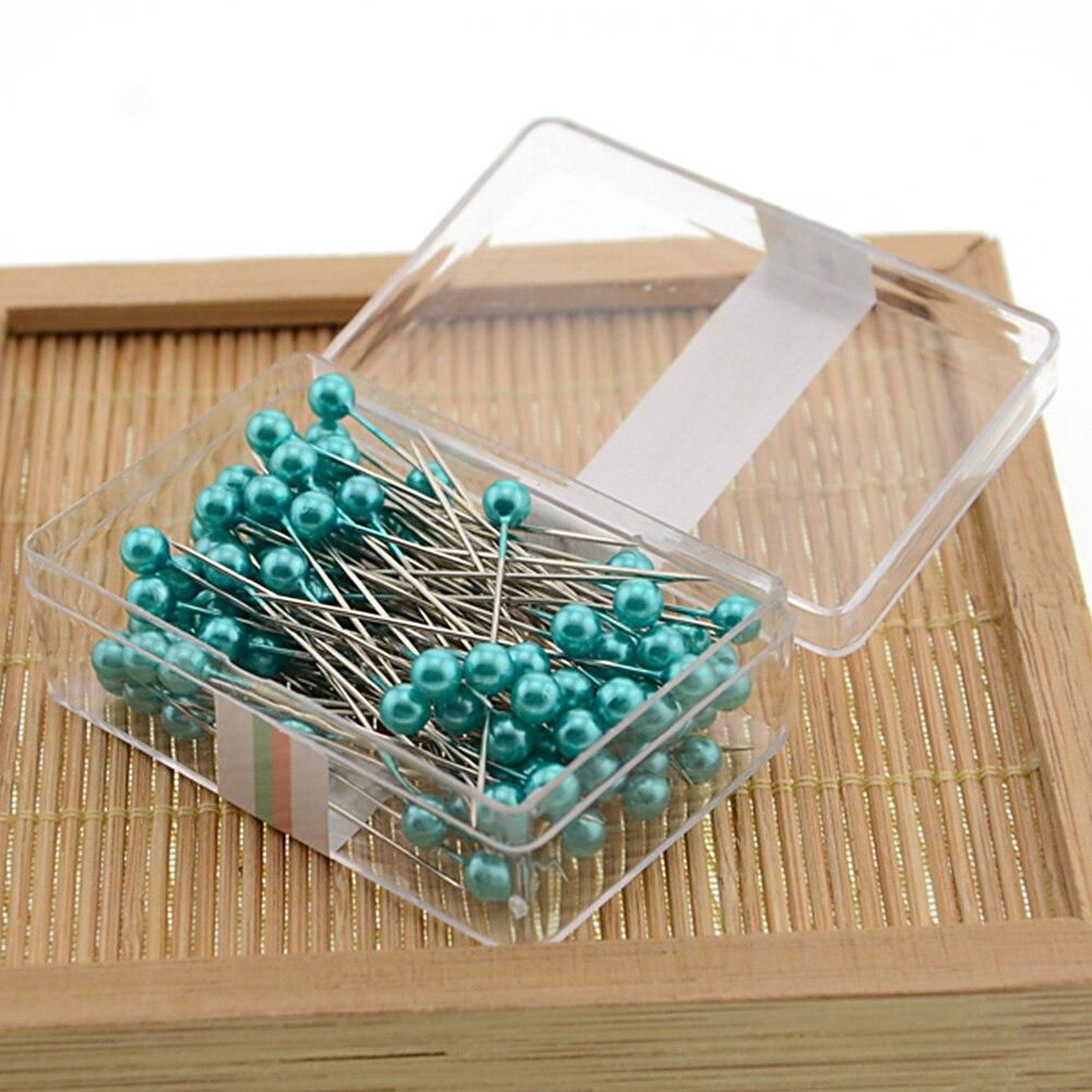 Caja de Herramientas de costura embellecedora DIY con perlas para manualidades, agujas profesionales para confección de ropa