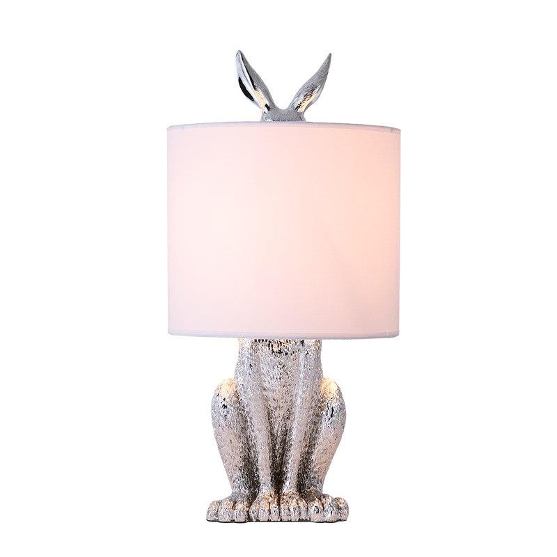 Modern resin masked rabbit table lamps simple bedroom bedside lamp living room restaurant Decorative lighting table light