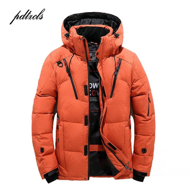 Куртка Мужская Утепленная на молнии, Повседневная парка с капюшоном, приталенная, на молнии, с несколькими карманами, пальто, зима