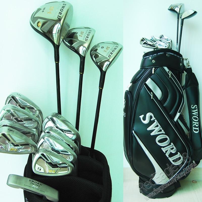 Cooyute nuevo palos de Golf KATANA espada SF-1Golf conjunto de controlador de Golf + 3/5 madera + planchas + bolsa de grafito mango de Golf envío gratis