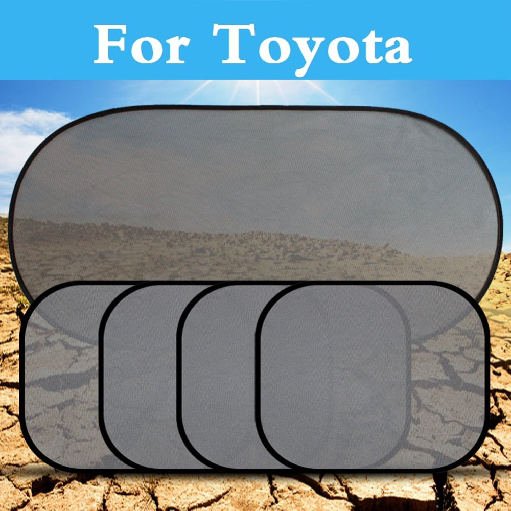 Conjunto de visera de malla negra para coche, protección UV para Toyota Camry Solara Celica Celsior Century Corolla Fielder