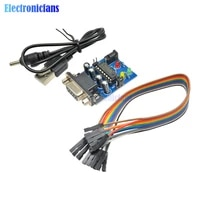 MAX232 Converter Module COM DB9 Serial Board MAX232CPE Transfer Chip ATMEGA16 LED Light Power for RS232 to TTL diy electronic