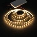 Светодиодная лента, гибкая светящаяся лента 2835SMD для подсветки ТВ, 0,5/1/2/3/4/5 м, 5 В пост. тока