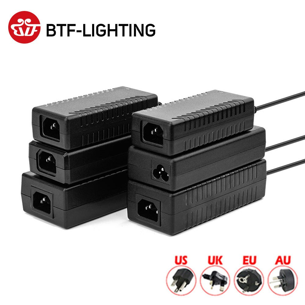 12V 1A 2A 3A 5A 6A 7A 8A 10A LED Power Supply AC110-240V UK/US/EU/AU Adapter Plug For WS2811 5050 3528 LED Strip Light