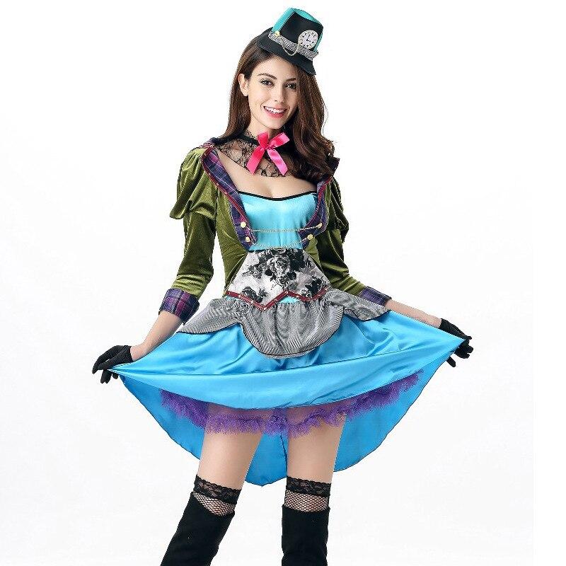 Новинка, женский сексуальный костюм принцессы синего цвета, эротическое мини-платье, Алиса, сатиновое роскошное нарядное кружевное платье, ...