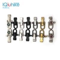 2pcs zinc alloy Adjustable U Shape Anchor Shackle Paracord Bracelet Buckle Outdoor Survival Rope Fittings For Outdoor Sport