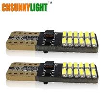 CNSUNNYLIGHT LED Parking Stop Lighting T10 24 SMD 4014 194 168 W5W Universal Car Side Bulbs 12V Car Signal Lighting Styling