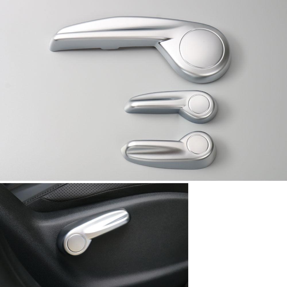 BBQ@FUKA 3x Matt Seat Adjust Control Knob Button Switch Cap Cover Trim Car-styling Fit For JEEP Renegade 16