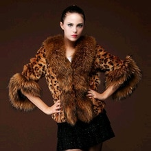 Sexy Faux Fur Female Coat New Style Winter Fashion Long Sleeves Leopard Print Fur Woman Jacket Coats Warm WomenS Outerwear