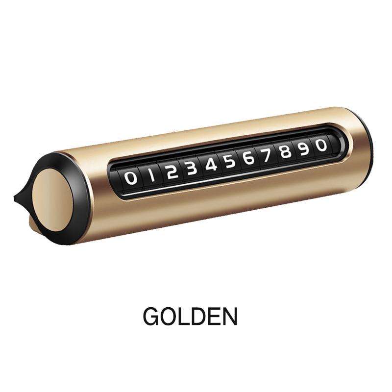 Cartão de estacionamento temporário do carro cden número de telefone placa de número de telefone automóvel adesivo material liga de metal