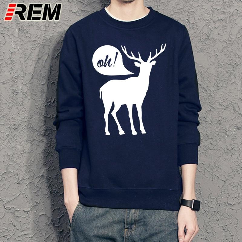 REM Sweatshirts Oh Deer Designer Graphic Funny Hoodies Cotton Mens Dear Cool Funky Hoodies Unisex Sweatshirts