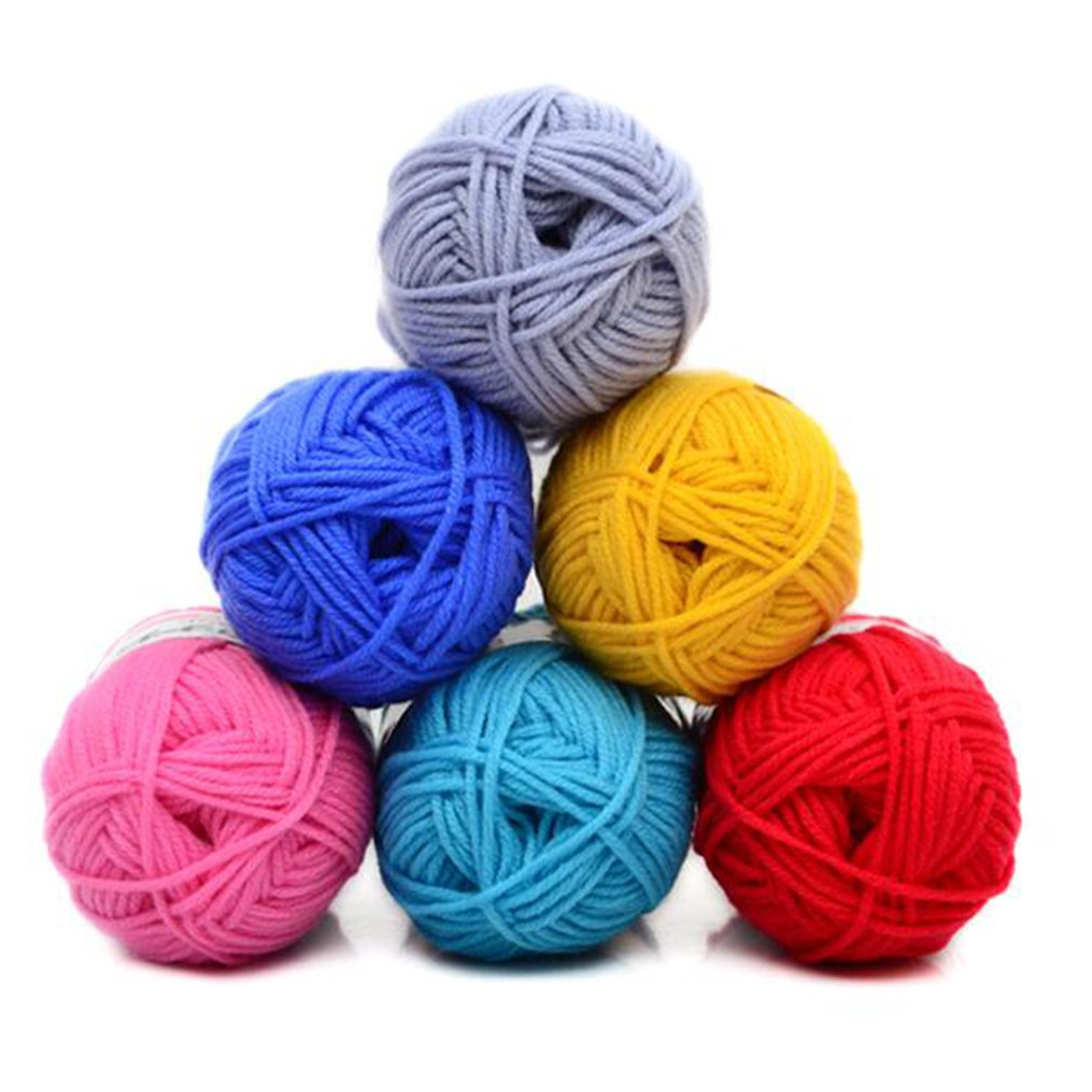 Retail 25g/ball Colorful 4# Combed Soft Baby Milk Cotton Yarn Fiber Velvet Yarn Hand Knitting Wool Crochet Yarn DIY SweaterJK476