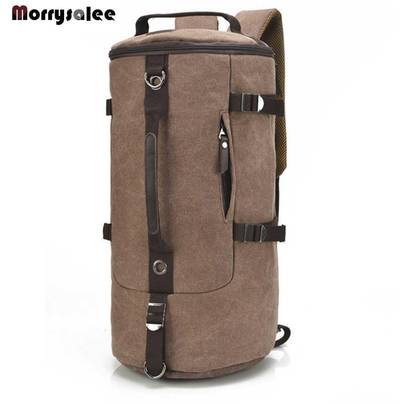 Mochila De Lona Para Hombre De Gran Capacidad Bolso De Viaje Para Montañismo 2 Tamaños Mountaineering Backpack Canvas Backpackquality Backpacks Aliexpress