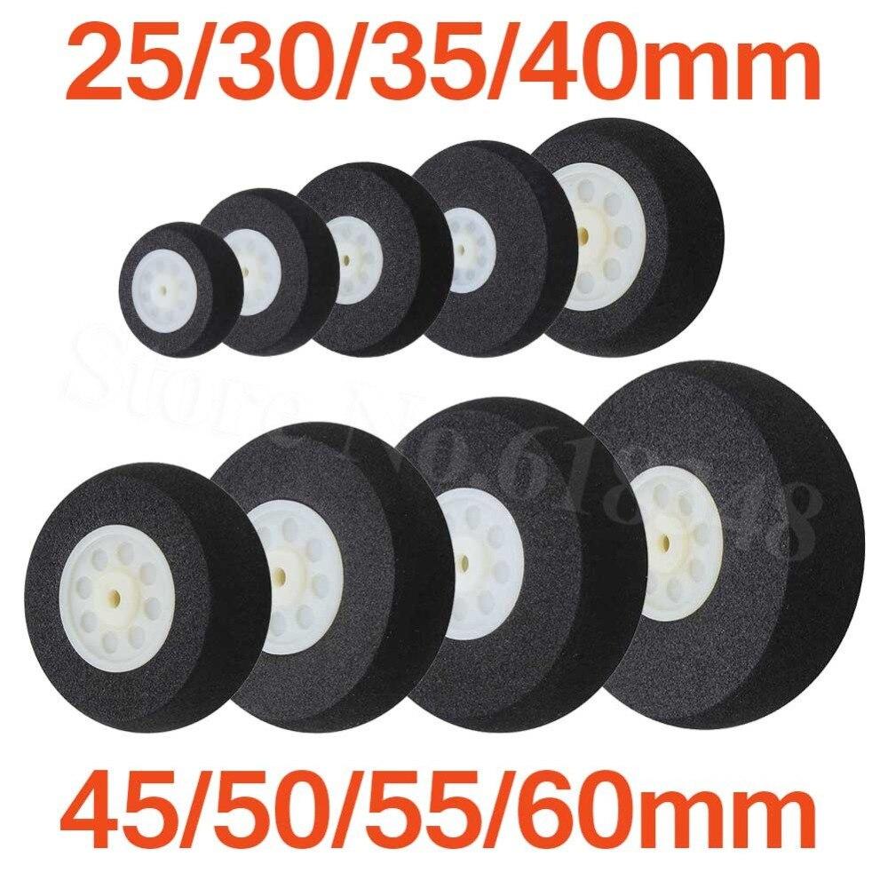 A esponja leve das rodas da cauda da espuma 25mm 30mm 35mm 40mm 45mm 50mm 55mm 60mm para as peças de substituição do avião do controle remoto de rc