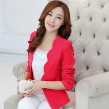J63025 Spring Women Blazers Jackets Small Chiffon Suit Jacket
