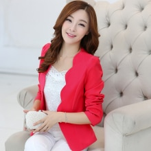 J63025 Spring Women Blazers Jackets Small Chiffon Suit Jacket