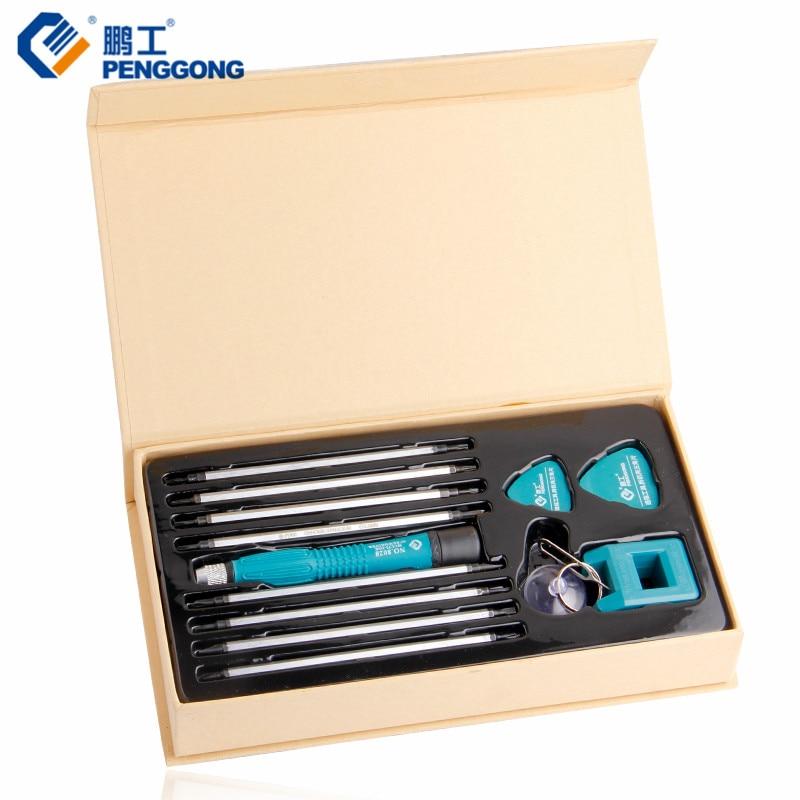 PENGGONG Cacciavite di Precisione Bit Set Cacciavite Torx Phillips Magnetico Elettronico Multitul Laptop Repair Tool 13 pz/set