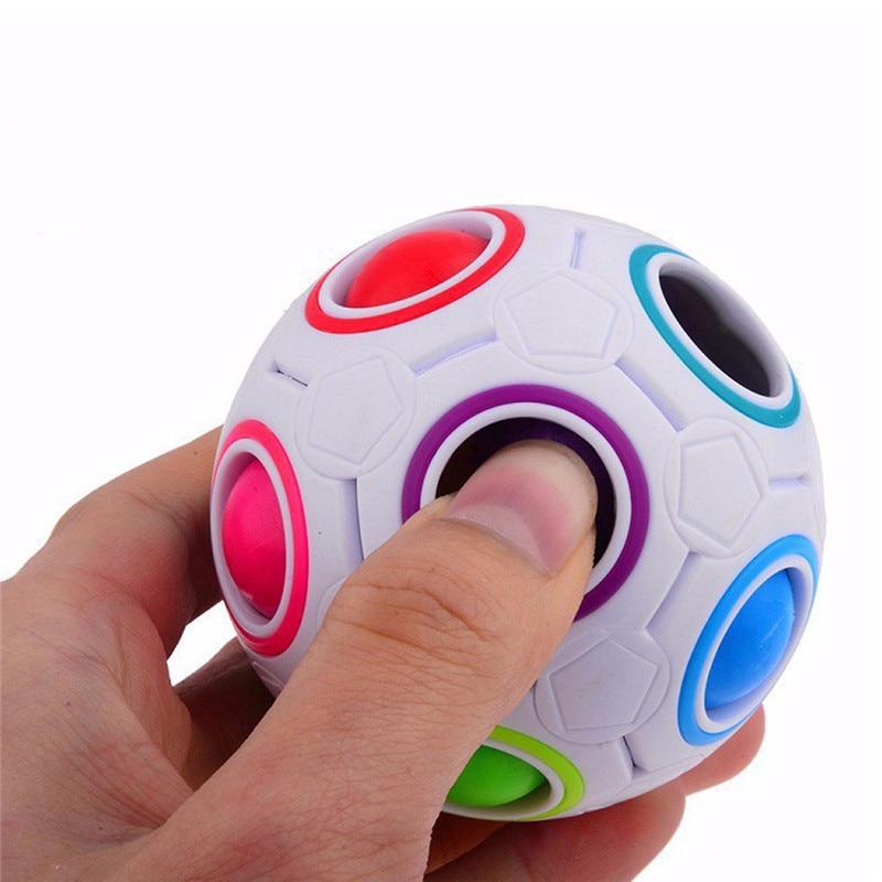 New Strange-shape Magic Cube Toy Desk Toy Anti Stress Rainbow Ball Football Puzzles Stress Reliever