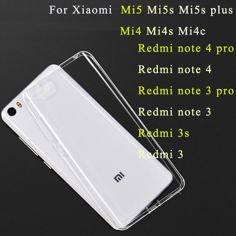 Funda de Gel transparente para Xiaomi mi 5 5s mi5s plus max 3 redmi 6 pro 5 5a 6 funda de silicona Xaomi Redmi note 8 5a