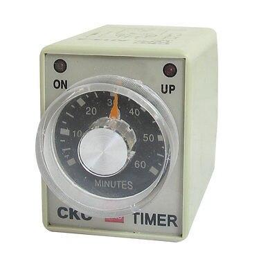 110 V AC 60 Min 0-60 m DPDT 8 pines 8 P terminales retardo temporizador tiempo relé AH3-3