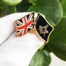 10 pièces Francs-maçons Lamitié Badge Métal Artisanat Lodge Royaume-Uni ROYAUME-UNI Drapeau Maçonnique Épingle Doux Épinglettes En Émail Broche