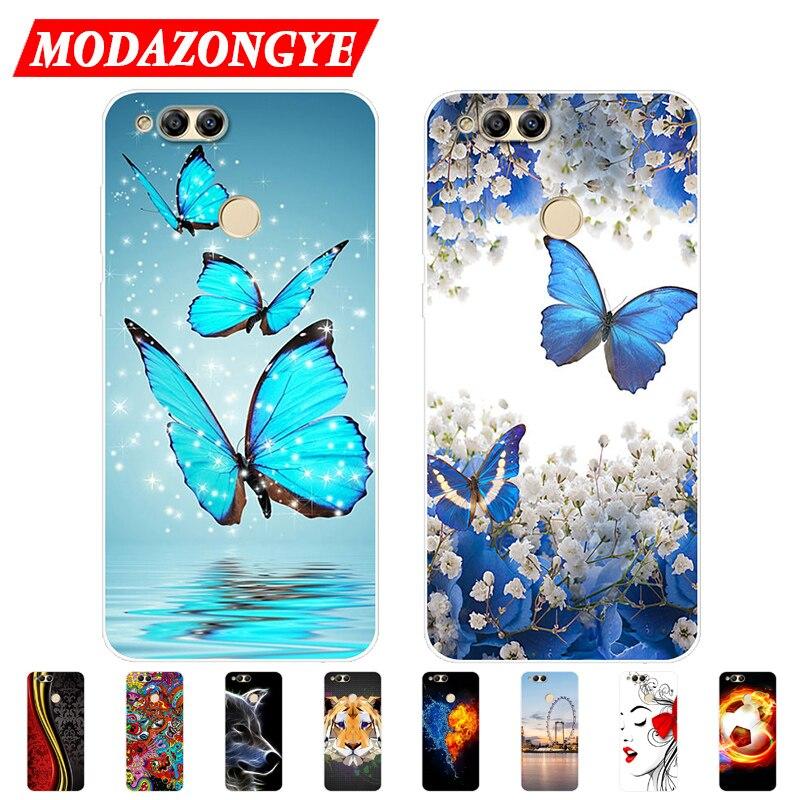 Caso Honra honra 7X 7X BND-L21 Caso Silicone TPU Caso de Telefone Macio Para Huawei Honor 7X BND-L21 BND L21 7 X Honor7X Tampa Do Caso 5.93