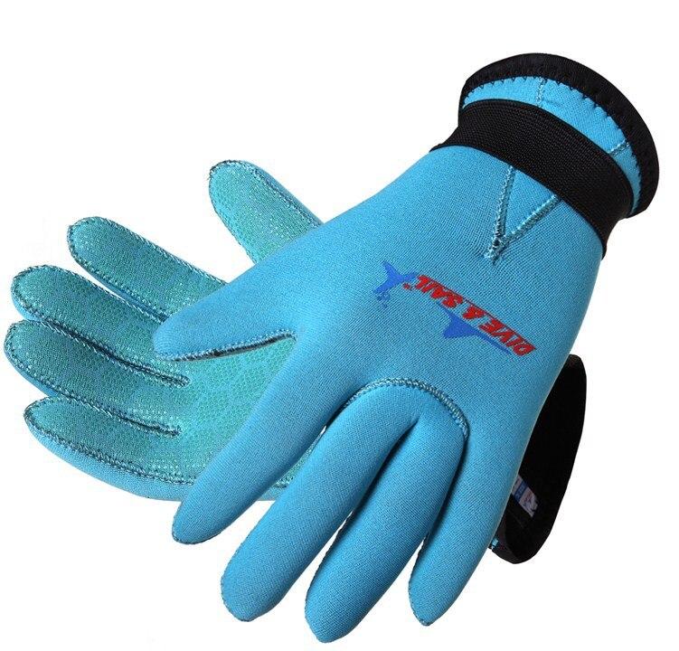 Nuevos guantes de buceo de neopreno, color azul y rosa, de 3mm, para niños y niñas, Material de Palma protección del producto, Envío Gratis