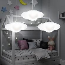 Créatif nuage led lustre maternelle enfants chambre nuage lumière restaurant barre décoration rigide en plastique lampe livraison gratuite