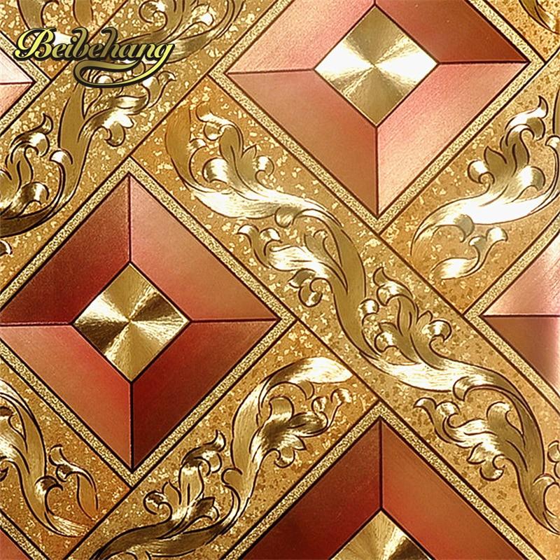 Beibehang الأوروبية KTV الذهب الفضة مربع papel دي parede لفات التلفزيون خلفية ورق الحائط 3d الحديثة خلفيات للجدران 3 d