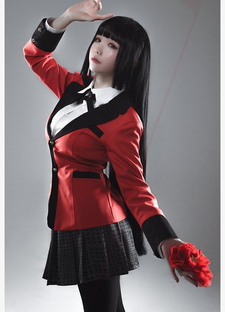 Горячая аниме Persona Косплей костюмы Kakegurui Yumeko Jabami японская школьная форма для девочек полный комплект костюм на Хэллоуин