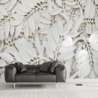 custom photo wallpaper murals european style white 3d embossed tree leaves living room sofa tv background mural papel de parede