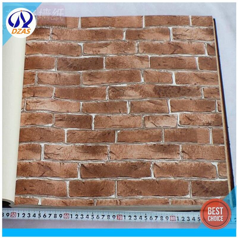 Engrossado chinês falso tijolo padrão papel de parede restaurante xinwang verde retro telhas cultura pedra tijolo vermelho papel de parede