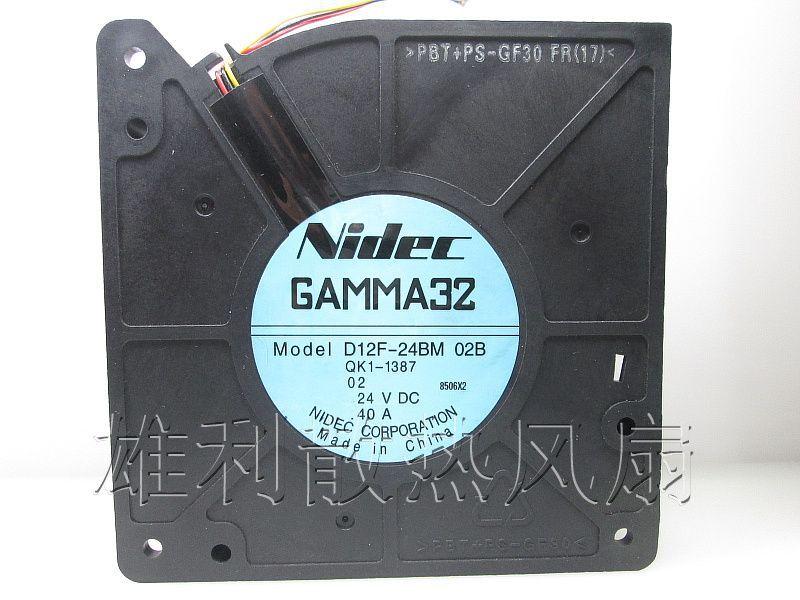 Original NIDEC D12F-24BM 02B 12032 24 V 0.40A 12 CM ventilador do ventilador turbo