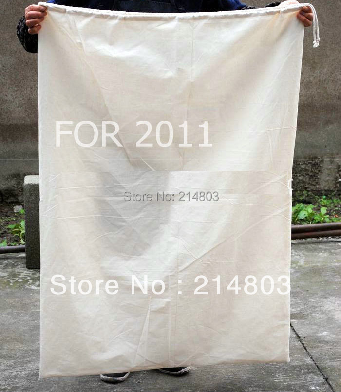 (500PCS/LOT) SIZE 50x70cm large cotton drawstring bag with logo