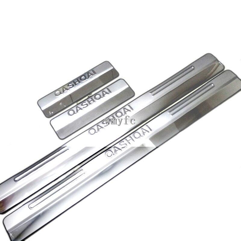 304 нержавеющая сталь внешний порог внутренняя накладка автомобильные аксессуары для Nissan QASHQAI J10 2007-2013 4 шт