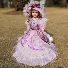 Livraison gratuite vente chaude 41 CM Style européen Victoria Style russie en céramique classique poupée Noble porcelaine poupées jouet cadeau pour fille
