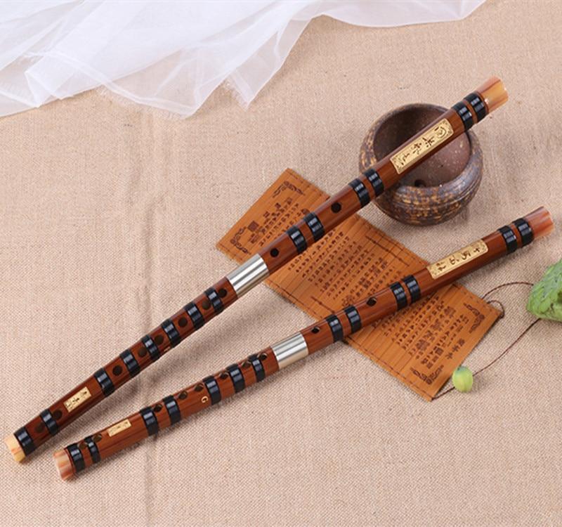 Flauta de bambú, profesional, Transversal, flauta musical, Instrumentos C D E F G, llave de doble enchufe, Flaut Dizi chino, no flauto huilu