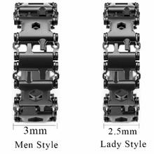 2.45cm Tread Outdoor Spliced Bracelet Multifunctional Wearing Screwdriver Tool Hand Chain Field Surv