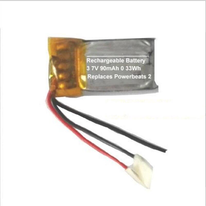 10 pcs lote ttvxo 90 mah bateria para batidas powerbeats ahb481221 2 bateria sem fio