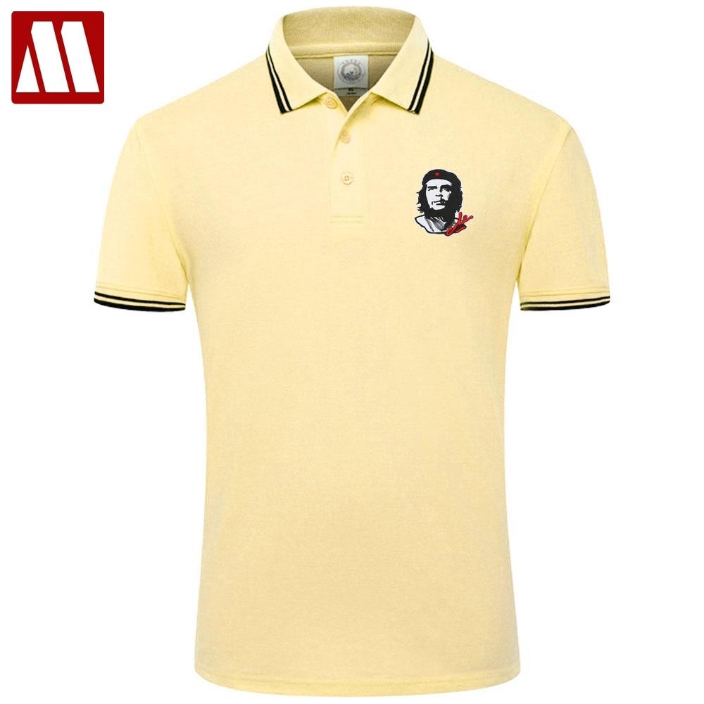 2020 New Arrival Che Guevara Embroidery Man Casual Polo Shirts England Style Mens Short Sleeve Cotton Polos Shirt Big Size XXXL