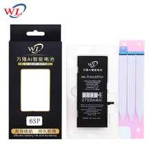 100% WL batería Original del teléfono móvil para la batería iPhone 6S Plus capacidad Real 2750mAh con la pegatina de la batería