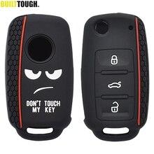 Siliconen Remote Key Case Voor Skoda Fabia Octavia Superb Voor Seat Leon Toledo Altea Ibiza Voor Vw Golf Polo Fob shell Cover