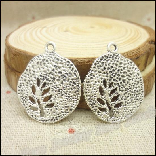¡Envío Gratis! 42 Piezas de dijes de plata antiguos plumas colgante Fit pulseras collar DIY Fabricación de joyas de Metal
