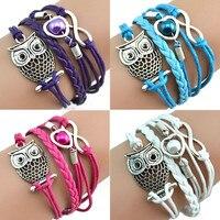 Fashion Bracelets For Women Owl Pearl Friendship  Bracelets Gift pulseras mujer бра  pulseira armband pulseras pulsera pulseira