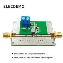 Moduł SBB5089 wzmacniacz fal rf wzmacniacz mocy 50 M-6 GHz szerokopasmowy 20dB funkcja wzmocnienia płyta demonstracyjna