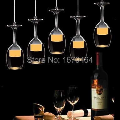 LED Modern Restaurant Pendant Light 5 Lights Acrylic 85V-240V  - buy with discount