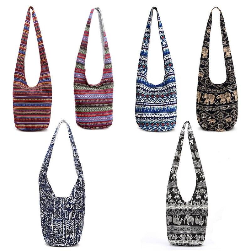 NoEnName_Null, bolsos de hombro Hippie de alta calidad para mujeres, bolsos grandes con flecos, bolsos étnicos, bolso de mano, bolso de viaje, bolso de hombro
