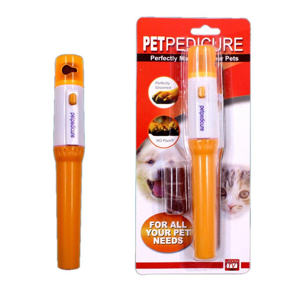 Professionnel électrique chien chat coupe-ongles automatique animaux broyeur fichier Kit chiens chats patte griffe Clipper animaux toilettage outils