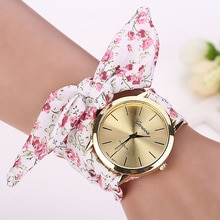 Best-Selling Women'S Table Garden Print Cloth Bracelet Watch Analog Quartz Women Clock Watch Gift Fa