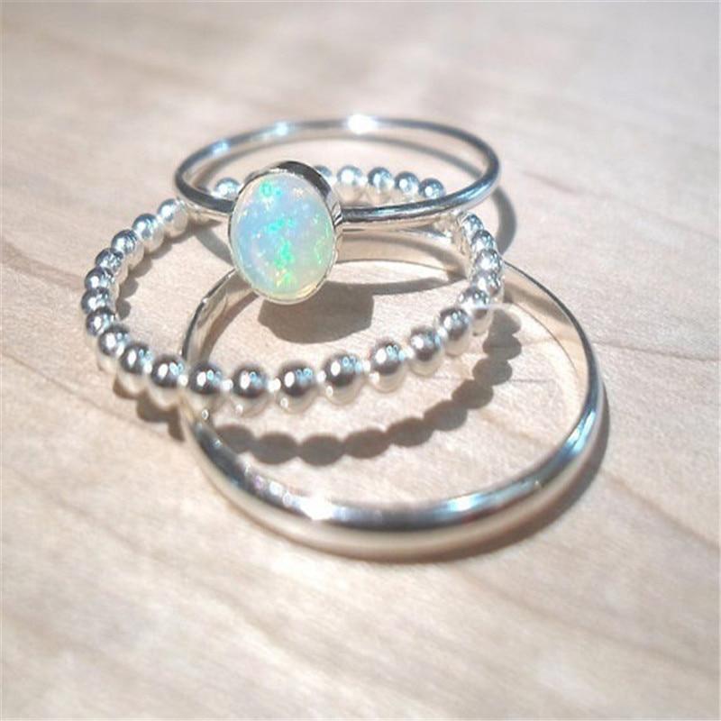 Anillo de ópalo de fuego blanco de nuevo diseño, anillo de boda de Zirconia cúbica para mujer y Chica, regalo de Cristales austriacos, Anillos de marca